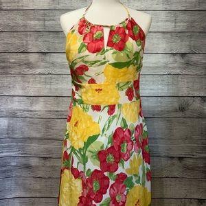 Loft Spring Floral Halter Dress